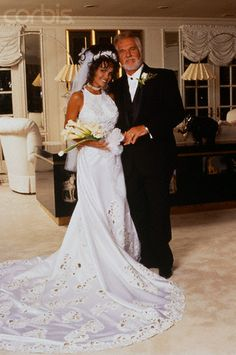Singer Kenny Rogers and current wife (#5) Wanda Miller, 1997. Celebrate your wedding with jewels from Renaissance Fine Jewelry in Vermont or www.vermontjewel.com