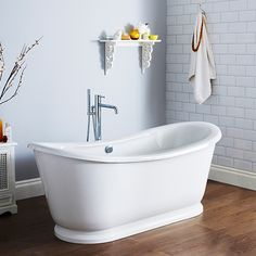 Everything feels good about the Hudson Reed Alice Free Standing Bath. Combining modern technology with a classic design creates a bath that is relaxing, indulgent and stylish too. Double Ended Bath, Wall Mounted Taps, Hudson Reed, Roll Top Bath, Bath Taps, Complete Bathrooms, Soaking Bathtubs, Luxury Bath, Traditional Bathroom