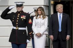 Melania Trump Photos Photos - (AFP-OUT) U.S. President Donald Trump and first lady Melania Trump wait to greet Israeli Prime Minister Benjamin Netanyahu and his wife Sara Netanyahu at the South Portico of the White House on February 15, 2017 in Washington, D.C. Netanyahu is trying to recalibrate ties with the new U.S. administration after eight years of high-profile clashes with former President Barack Obama, in part over Israel's policies toward the Palestinians.
