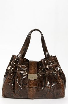 c560f6e198c3 Jimmy Choo  Ramona  Snake Embossed Leather Shopper