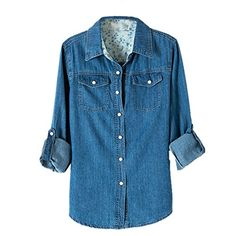 Weixinbuy Women Long Sleeve Denim Jean T-shirts Blouse Dark Blue M Weixinbuy http://www.amazon.com/dp/B00RGEIK96/ref=cm_sw_r_pi_dp_SNrjvb1CNN8WV