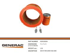 Generac PM Kit # 5665 for 20kW 999CC Standby Generator 0G95300SRV - Generac Maintenance Kits - Generator Parts