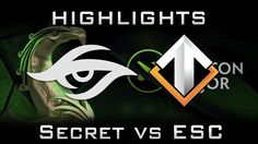 Secret vs Escape Boston Major 2016 EU Highlights Dota 2