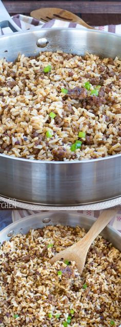 This Sausage Dirty Rice from This Silly Girl's Kitchen is a not-so-dirty spin on a classic dish. It's loaded with savory sausage and tons of flavor!