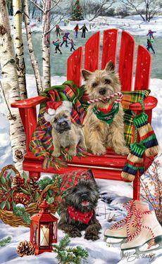 Cairn Terrier Christmas Fun - by Margaret Sweeney