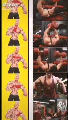 Weight Training Workouts, Fitness Workouts, At Home Workouts, Workout Routines, Workout Videos, Chest And Shoulder Workout, Body Workout At Home, Chest Workouts, Self Improvement Tips