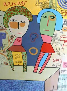 Milo Lockett Robert Henri, Creative Activities, Outsider Art, Red Cross, Whimsical, Folk, Illustration Art, Figurative, How To Make