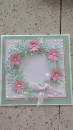 Quilted wreath card