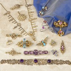 A selection of Antique Jewellery items Amethyst Bracelet, Antique Jewellery, Wedding Wishes, Hair Clips, Belts, All Things, Groom, Essentials, Bride