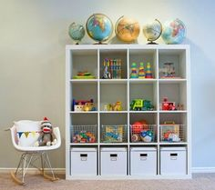 Attractive way to organize your kids toys or for that matter your own LOL....