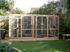Image detail for -This is a cattery which has a porch and a tunnel going to the main run ...