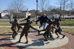 Circle of Friendship statue at Barnet Park, Spartanburg, SC