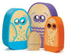 P'kolino Nesting Birds by P'Kolino. $40.99. One of a kind playfully smart design. Is a nesting, puzzle and balancing toy. Educational toy that fosters reasoning skills, problem solving abilities, hand-eye coordination and motor skills. Great Educational features combined with beautiful colors and natural wood, creates a truly one of a kind playfully smart nesting toy. Quality construction. From the Manufacturer                These Silly Birds nest inside each other teach...