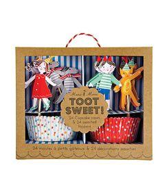 Look at this #zulilyfind! Toot Sweet Children Cupcake Kit by Meri Meri #zulilyfinds