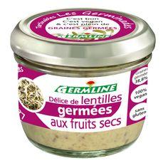 Délice de lentilles germées aux fruits secs