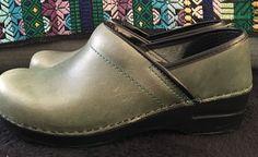 Dansko Professional Clog Shoes Leather Green Size 37 | eBay