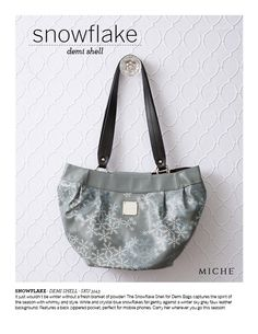 Snowflake your purse w/Miche ;)