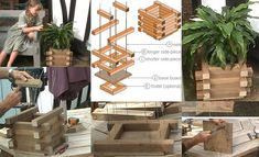 Best selection of free woodworking DIY plans for building a square planter box. Square planters for every style and taste. Easy, simple and all beautiful. Planter Box Designs, Square Planter Boxes, Planter Box Plans, Wood Planter Box, Porch Planter, Woodworking Jig Plans, Woodworking Shop Layout, Woodworking Classes, Woodworking Apron