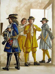 """""""British Army 1660-1704 pl. B"""" by Gerry Embleton."""