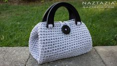 DIY Tutorial - Crochet Easy Casual Friday Handbag with Lining - Lined Pu...
