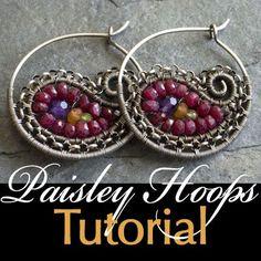Paisley Hoop Earrings | JewelryLessons.com