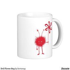 Evil Flower Bug Classic White Coffee Mug