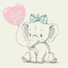 Cute elephant with balloon hand drawn vector illustration. Can be used for t-shi… Cute elephant with balloon hand drawn vector illustration. Can be used for t-shirt print, kids wear fashion design, baby shower invitation card. Cartoon Drawing For Kids, Cartoon Drawings, Cute Drawings, Baby Elephant Drawing, Elephant Art, Cute Elephant Cartoon, Elephant Images, Illustration Mignonne, Cute Illustration