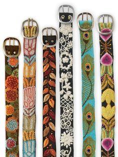 wool wildflower embroidery belt                                                                                                                                                     More