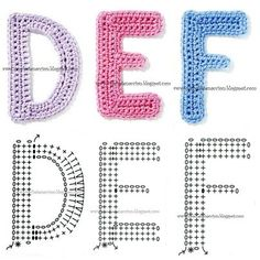 Crochetpedia: Crochet Letters and Numbers for appliqueing and decor Appliques Au Crochet, Crochet Motif, Crochet Flowers, Crochet Stitches, Free Crochet, Crochet Alphabet Letters, Crochet Letters Pattern, Crochet Patterns, Crochet Accessories Free Pattern