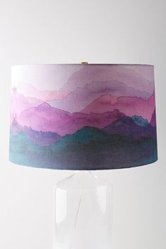 Lamp shade featuring shades of violet