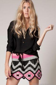 Minifaldas tejidas moda invierno 2013