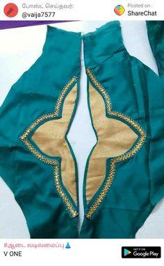 Latest Salwar Kameez Designs, Churidar Neck Designs, Saree Blouse Neck Designs, Kurta Designs Women, Dress Neck Designs, Sleeve Designs, Patch Work Blouse Designs, Sleeves Designs For Dresses, Stylish Blouse Design
