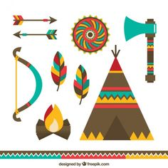 Indian Party Themes, Indian Birthday Parties, Collections D'objets, Design Plano, Quiet Book Templates, Baby Posters, Arte Tribal, Little Doodles, Indian Artifacts