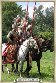 Polish hussars by ~Marqoni on deviantART...My daughter (via her father) is a descendant of the Glowczewski's, a family that raised many Hussars.