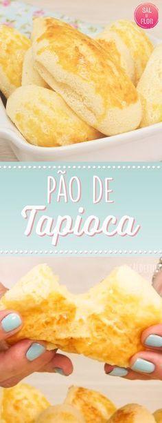 Pan de Tapioca - In the mood for food! Pizza Recipes, Low Carb Recipes, Cooking Recipes, Healthy Recipes, Portuguese Recipes, Light Recipes, Love Food, Breakfast Recipes, Food Porn