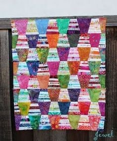For extreme scrap quilters.  See Etsy.com/Shop/KarenGriskaQuilts for fun quilt patterns.