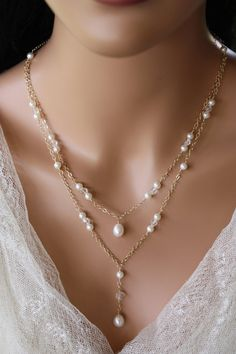 Gold Jewellery Long Set, Jewelry Stores Near Me In The Mall within Jewellery Online Platform; Jewellery Stores Barrie at Online Jewellery Handmade Bridal Backdrop Necklace, Bridal Necklace, Wedding Jewelry, Gold Necklace, Gold Chain Design, Pearl Hair Pins, Rose Gold Chain, Necklace Designs, Beaded Jewelry