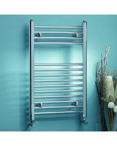 Demi Water-Fed Vertical Straight Towel Rail Belfry Heating Size: H x . Towel Bar Height, Electric Towel Rail, Electric Radiators, Column Radiators, Towel Radiator, Designer Radiator, Curved Walls, Cord Storage