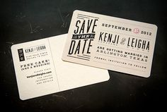Rustic Modern Save the Dates