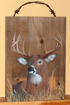 love the idea of painting it on wood!
