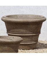International Rustic Rolled Rim Cast Stone Planter - 18.25 in. - P-548-AL