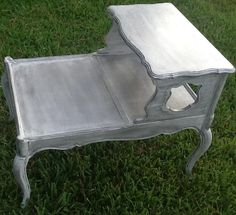 Upcycled Hand Painted Shabby Chic Accent Table