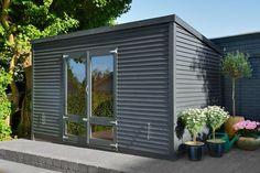 Haveskur Outdoor Gardens, Indoor Outdoor, Outdoor Decor, Garden Living, Pergola, Shed, Construction, House Design, Architecture