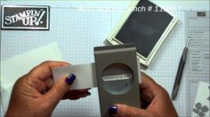 card making video: Note card holder with Dawn ... luv watching Dawn's videos and observing basic card making techniques as she creates special cards ... here she creates a notecard holder from envelops ... really cool and quick projuect ... like the use of slate gray and white for the cards ... Stampin' Up!
