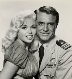 """Cary Grant and Jayne Mansfield -- the 1957 film """"Kiss The Girls.' This one had a lot of would be TV stars in it - Ray Walston (My Fav Martian), Werner Klemperer (Col. Klink on Hogan's Heroes) and Richard Deacon (Mel Cooley on The Dick Van Dyke Show and Lumpy's father, Mr. Rutherford on Leave It To Beaver) were all in this one too."""