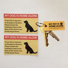 This Emergency Pet Keyring Tag is the perfect addition to our Pet Care Card and will help alert emergency personnel to look atyour Emergency Pet Care Card in y