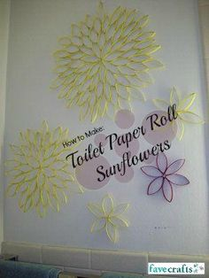 Toilet Paper Roll Sunflowers | Such a beautiful toilet paper roll craft!