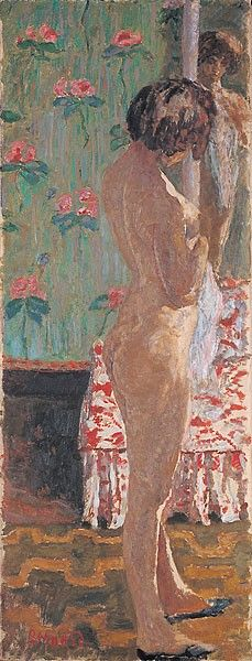 'Woman in front of a mirror', 1908 - Pierre Bonnard (1867–1947)