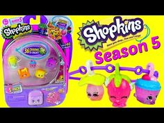 Shopkins SEASON 5 with Bracelets and Charms NEW 5 Packs Opening and Toy Review - YouTube