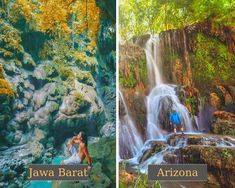 Green Canyon di Jawa Barat = Havasu Canyon di Arizona Amerika Serikat #judionline #bandarjudi #bolatangkas #8tangkas #jackpot Arizona, Waterfall, Outdoor, Outdoors, Outdoor Living, Garden, Waterfalls